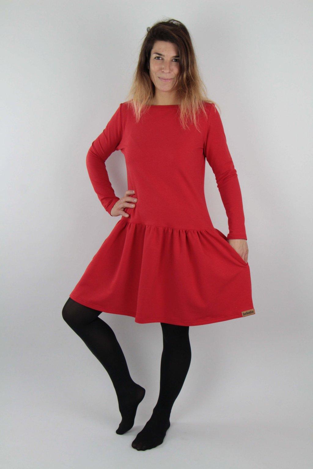 Šaty Celoročky červené