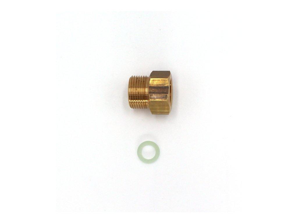 """Redukce přechodka pro ventil tlakové lahve CO2 - z W21,8x1/14"""" na G3/4"""""""