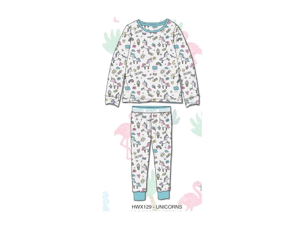 Pyžamo dívčí Junior bílá
