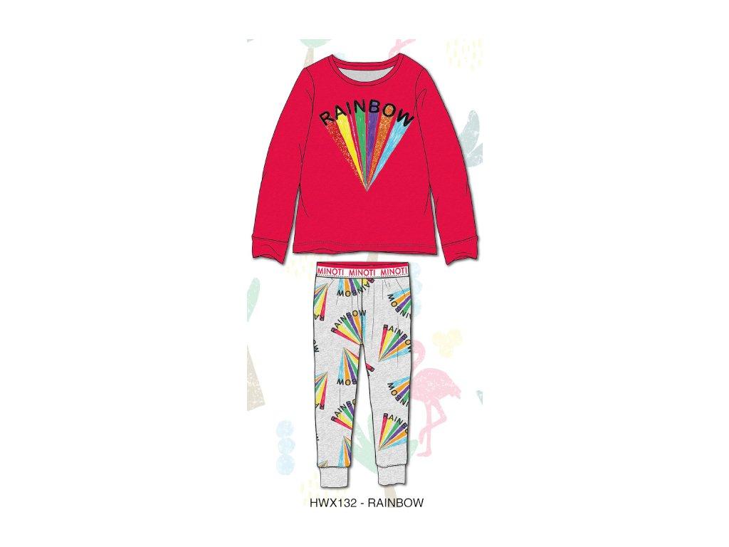 Pyžamo dívčí Junior červená