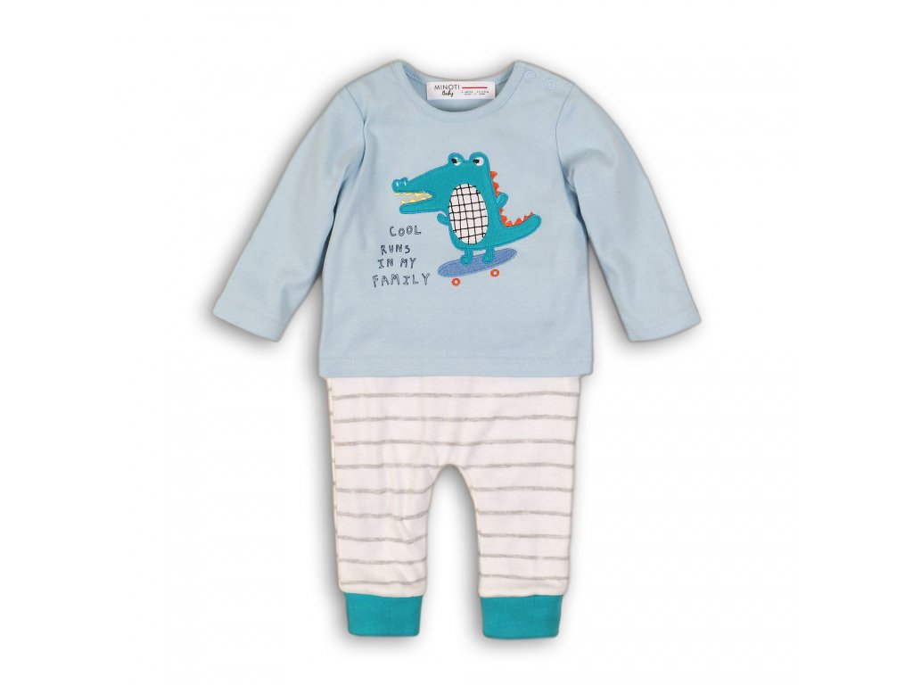Kojenecký set bavlněný, tričko a kalhoty Baby světle modrá