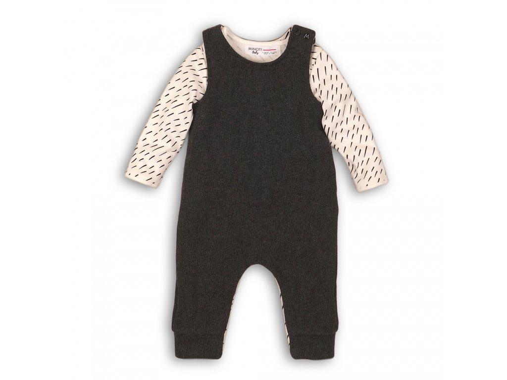Kojenecký set, kalhoty a body Baby černá