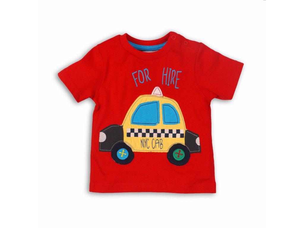 tričko chlapecké TAXI Baby červená