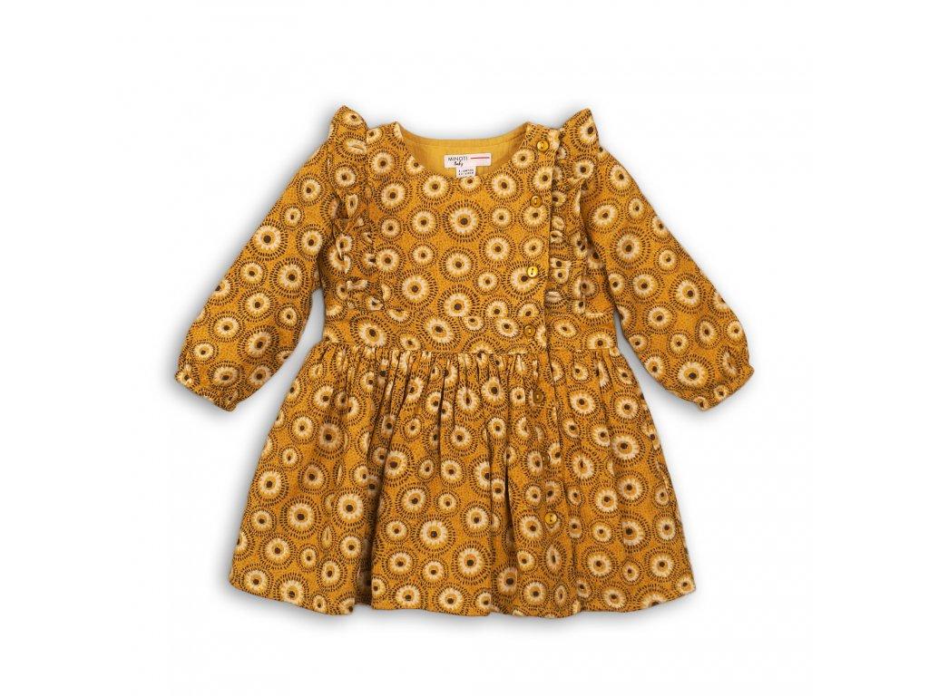 Šaty dívčí viskózové Baby žlutá