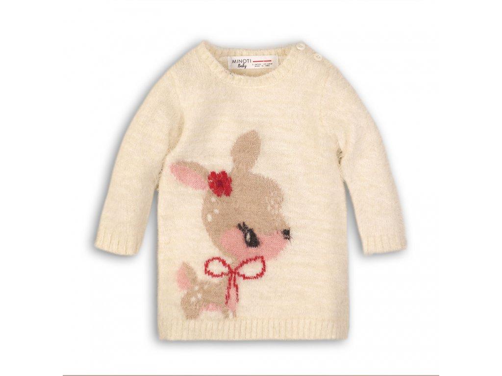 Šaty dívčí úpletové Baby krémová