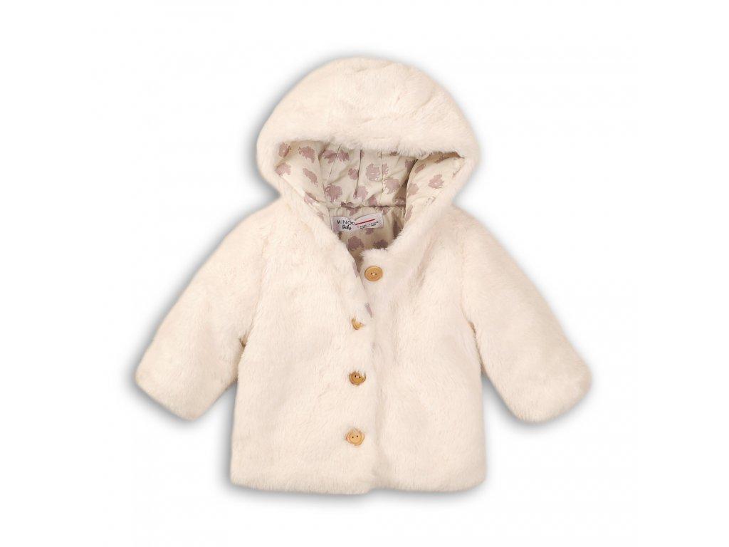 Kabátek dívčí chlupatý Baby bílá