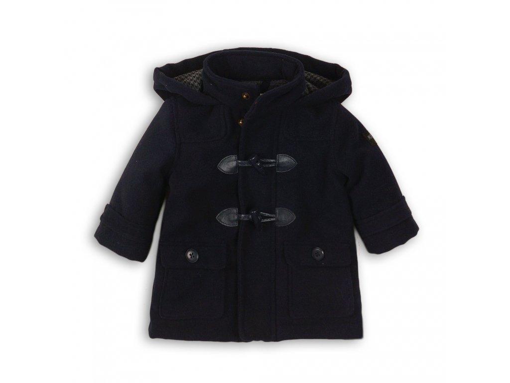 Kabát chlapecký vlněný podšitý chlupem Baby tmavě modrá