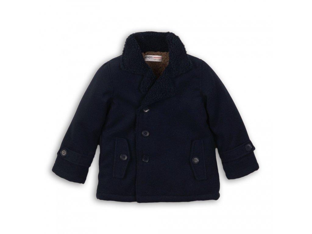 Kabát chlapecký vlněný podšitý chlupem tmavě modrá
