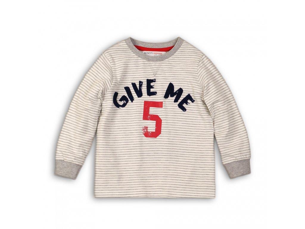 Tričko chlapecké bavlněné s dlouhým rukávem béžová