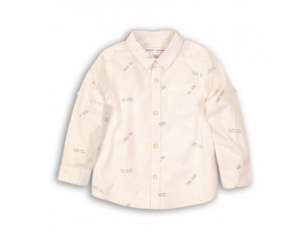 Košile chlapecká bavlněná bílá
