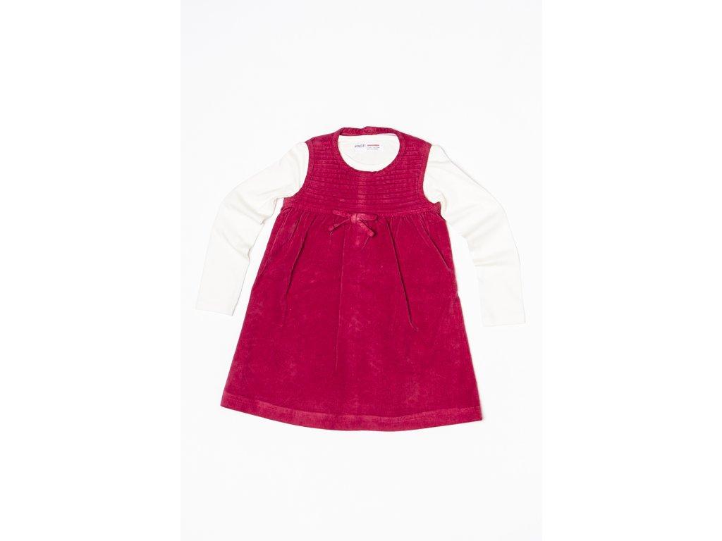 Dívčí set : šatovka, tričko Baby holka