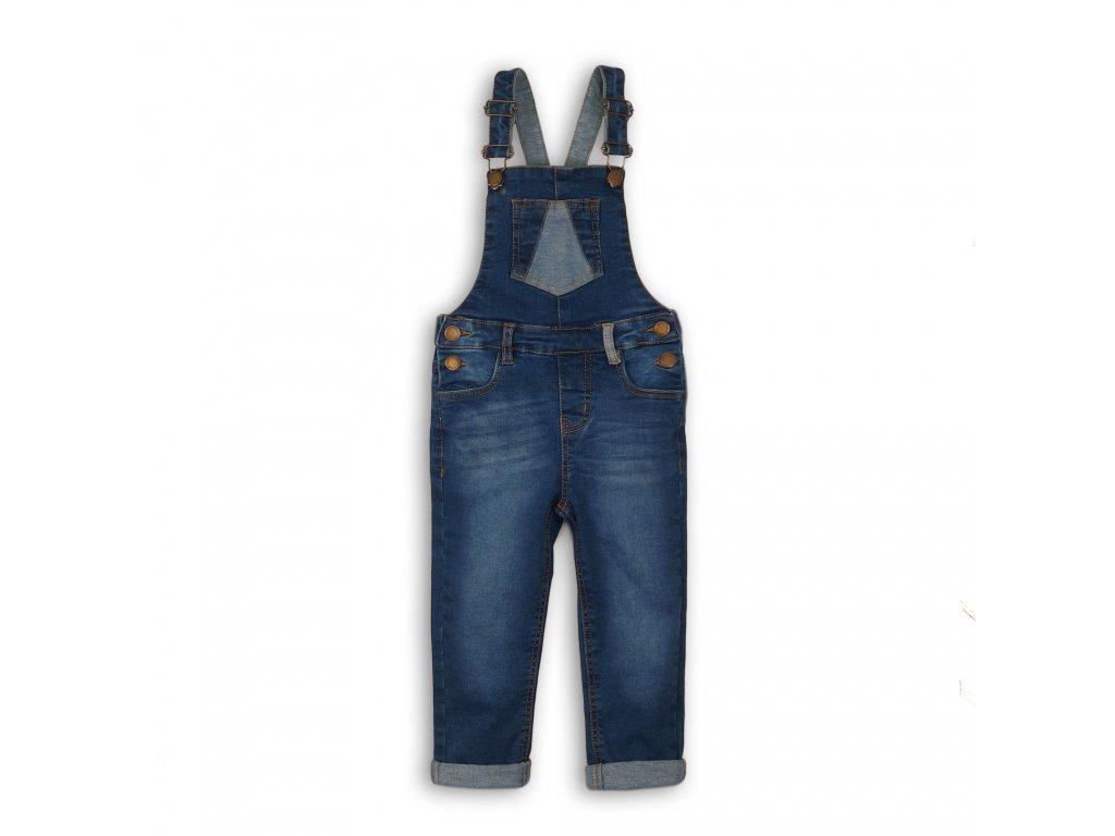 Kalhoty dívčí džínové a laclem Kids modrá