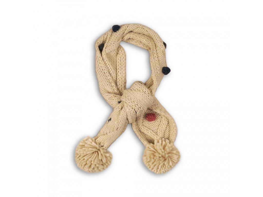 Šála zimní pletená Baby béžová