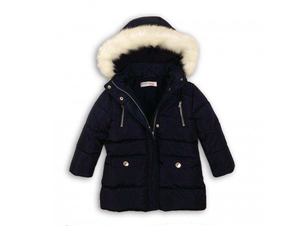 Kabát dívčí zimní Parka podšitá chlupem Baby tmavě modrá