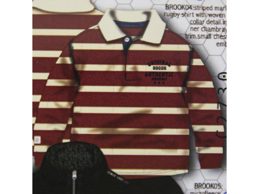 Tričko chlapecké POLO bavlněné s dlouhým rukávem Baby kluk