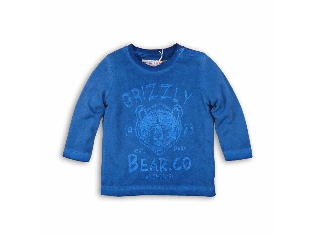 Tričko chlapecké s dlouhým rukávem Baby modrá