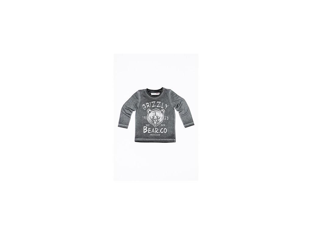 Tričko chlapecké s dlouhým rukávem Baby šedá