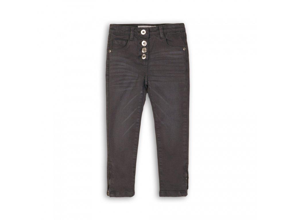 Kalhoty dívčí s elastenem Junior šedá