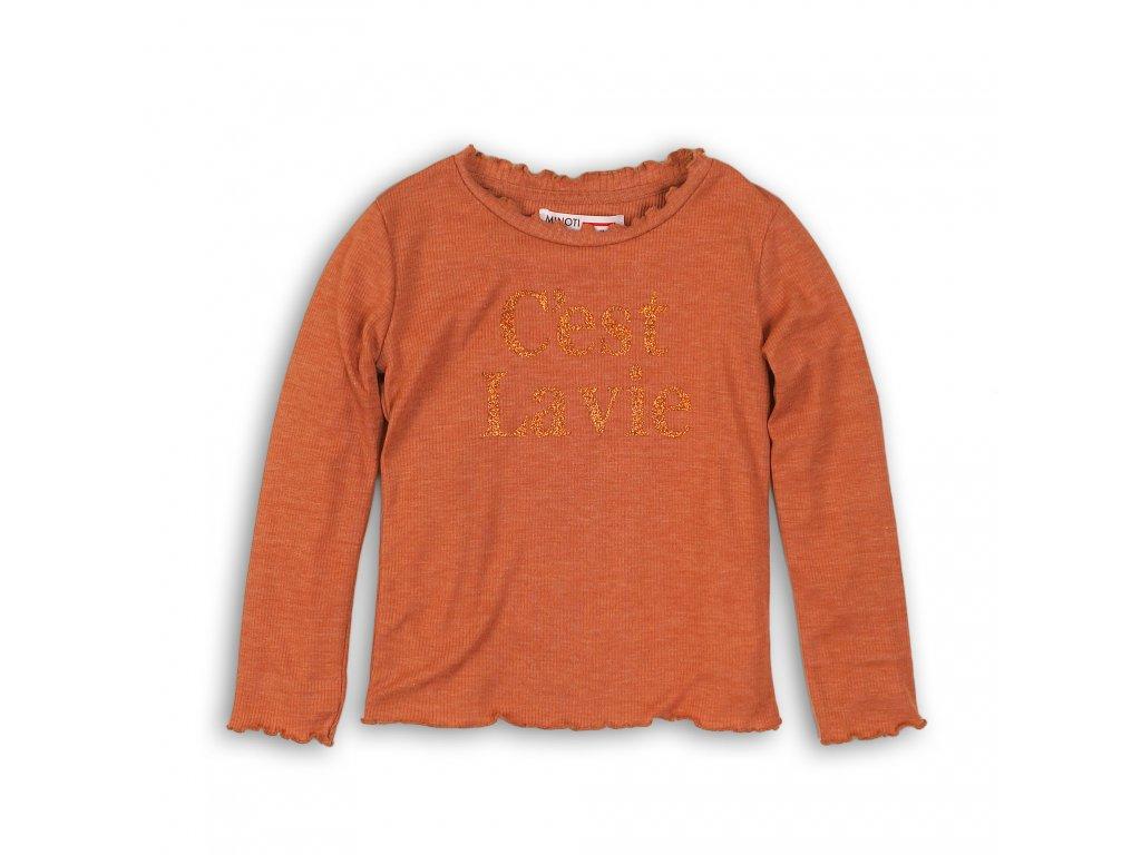 Tričko dívčí s dlouhým rukávem Junior oranžová