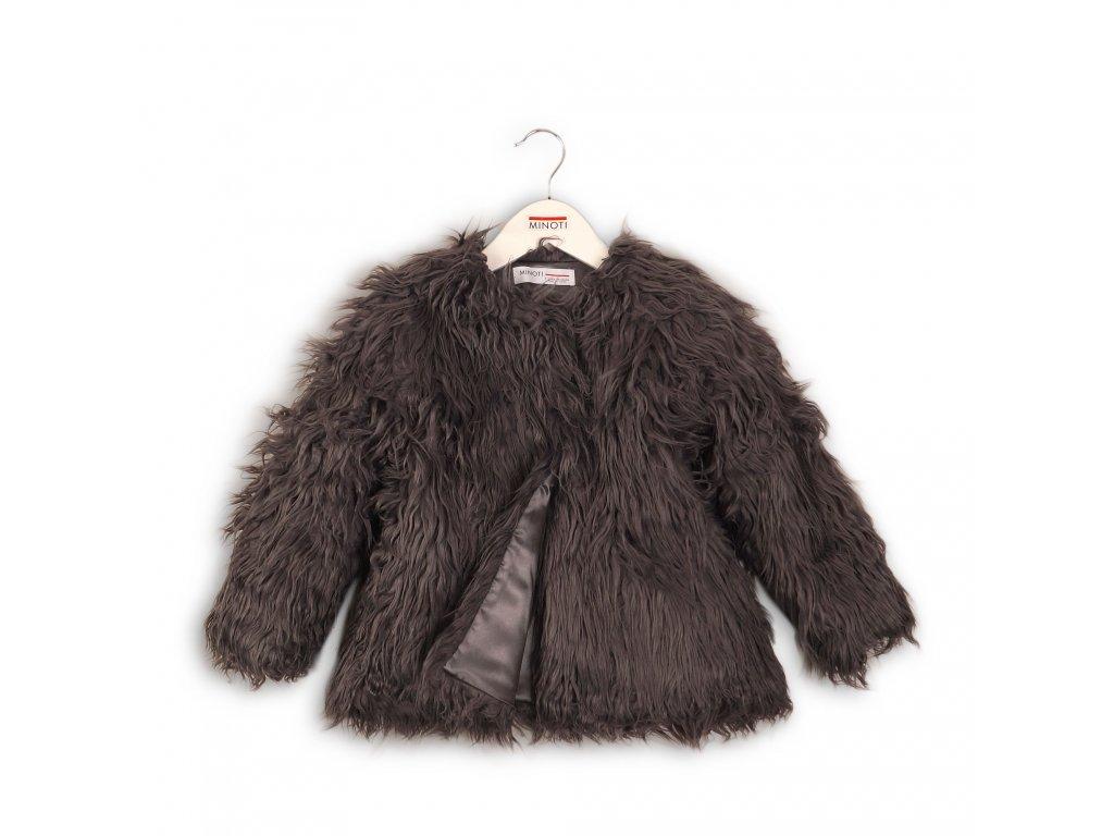 Kabát dívčí chlupatý Junior antracit