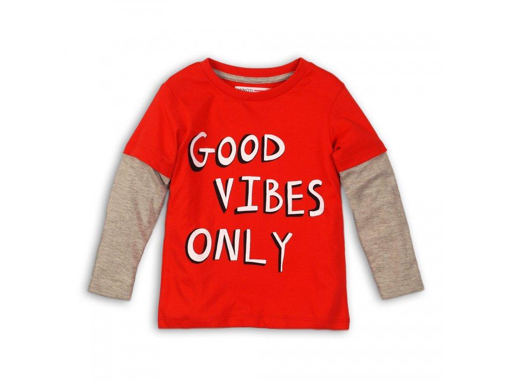 Tričko chlapecké s dlouhým rukávem Baby červená