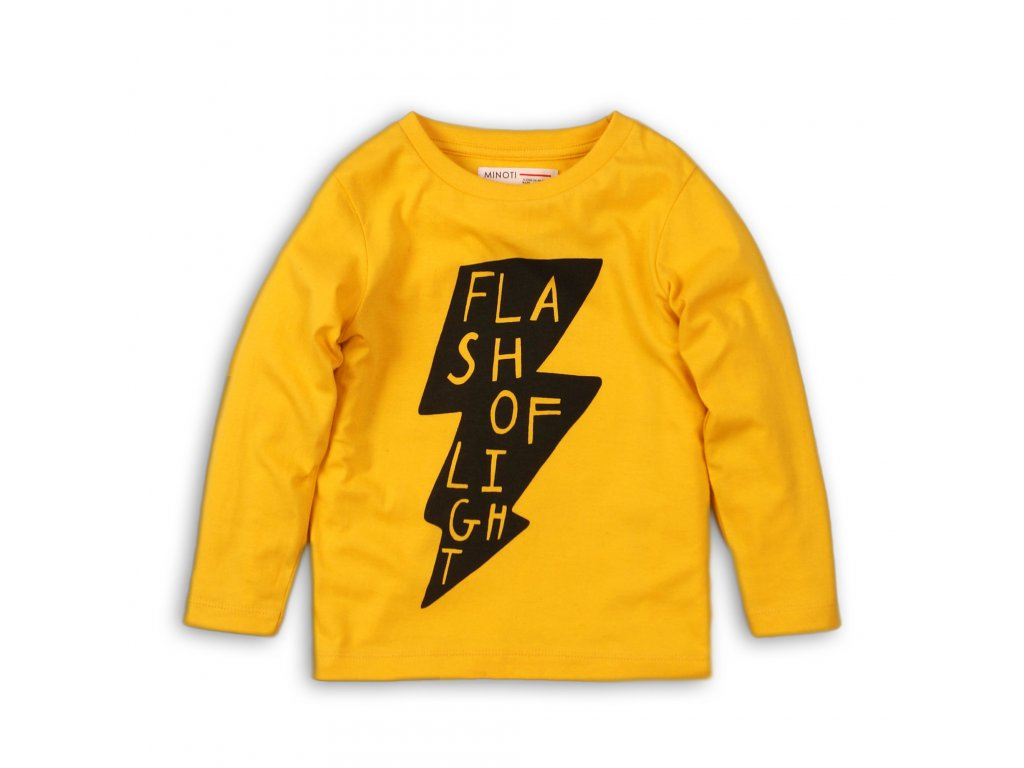 Tričko chlapecké s dlouhým rukávem Baby žlutá