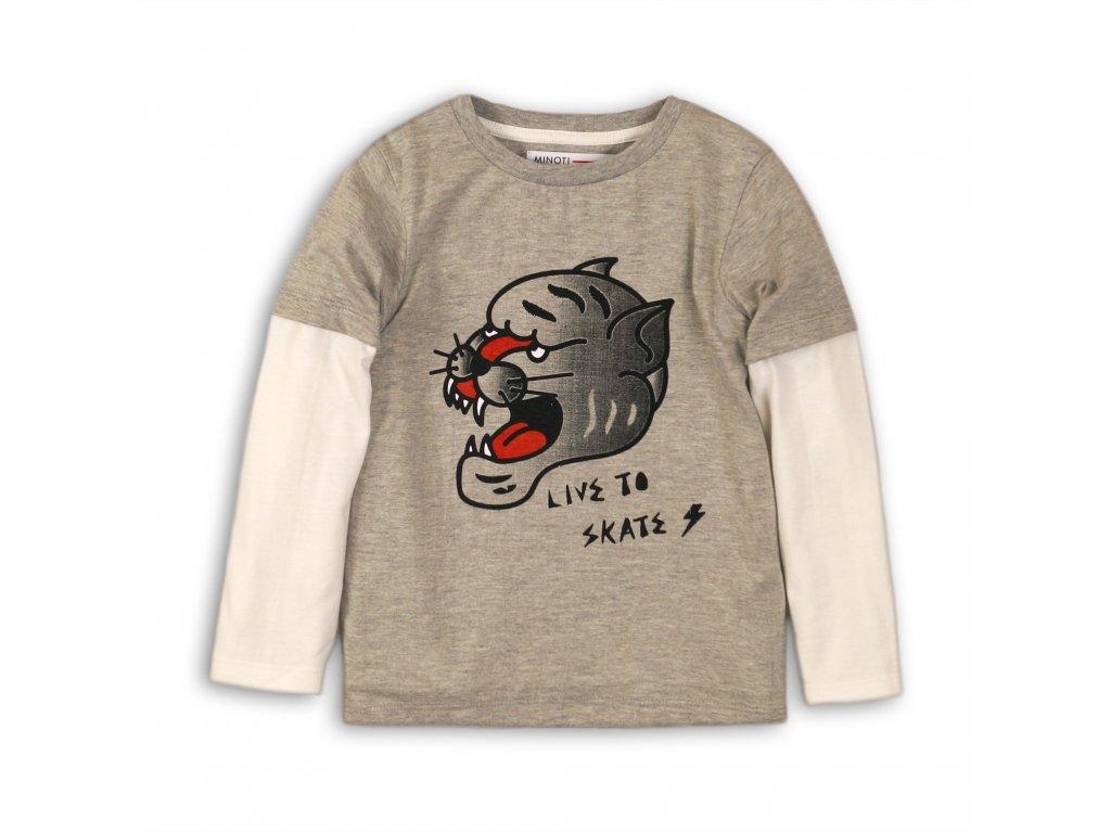 Tričko chlapecké s dlouhým rukávem Junior šedá
