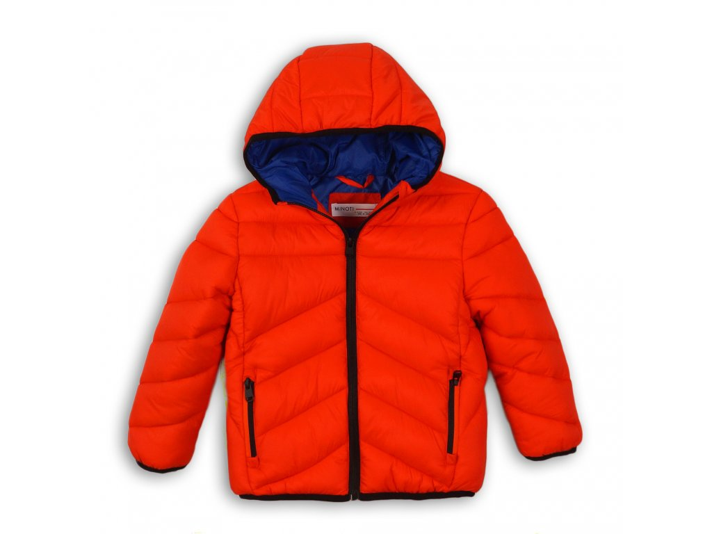 Bunda chlapecká Puffa Baby oranžová