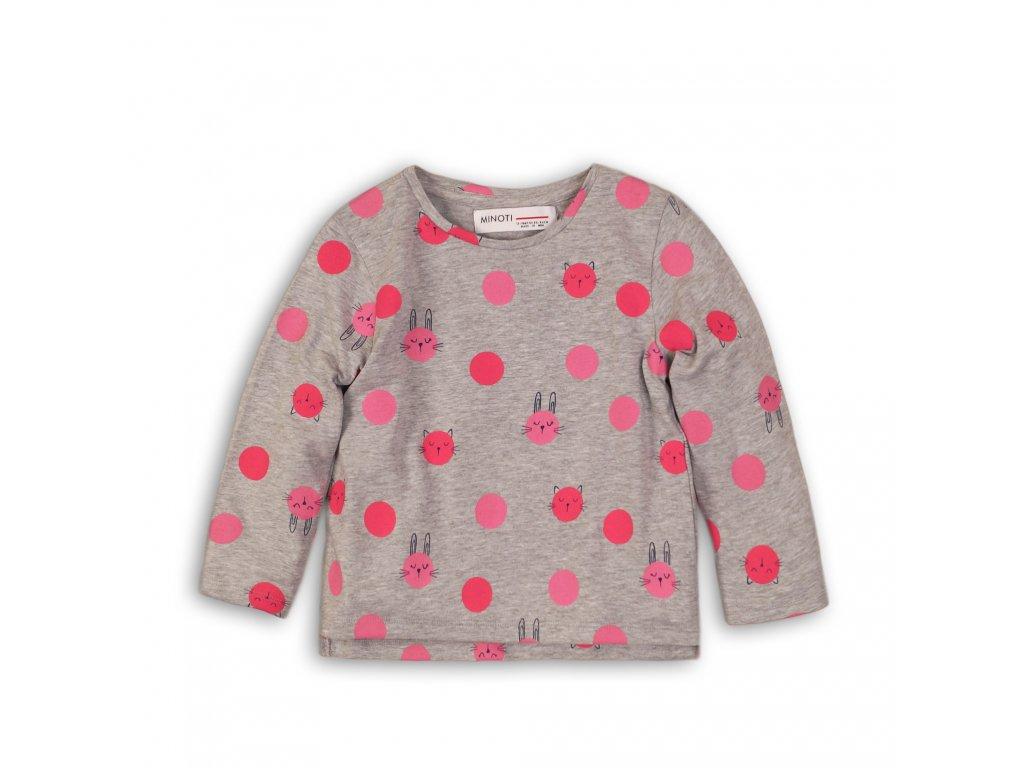 Tričko dívčí s dlouhým rukávem Baby růžová