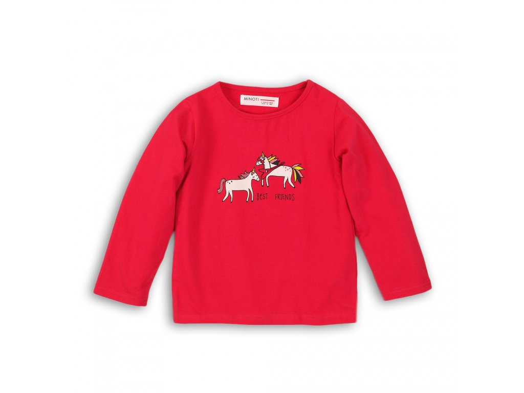 Tričko dívčí s dlouhým rukávem Baby červená