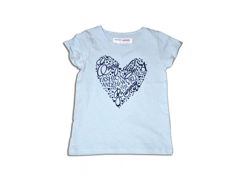 tričko dívčí letní Kids světle modrá