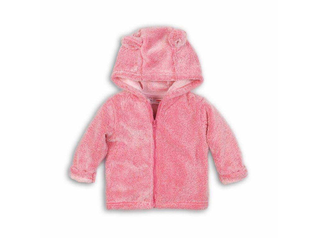 Mikina dívčí s kapucí Kids růžová