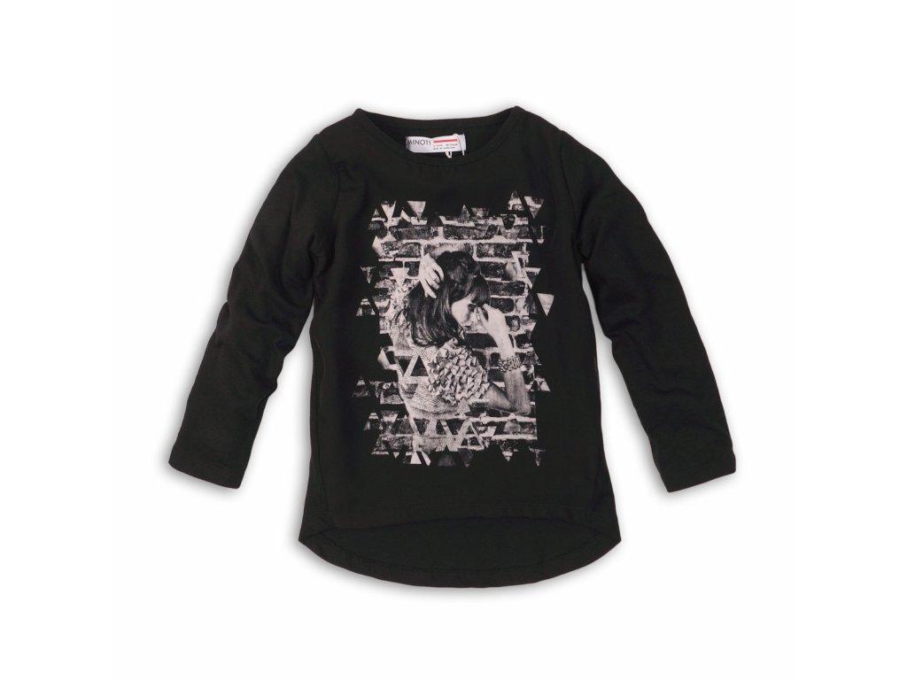 Tričko dívčí dlouhý rukáv Kids černá
