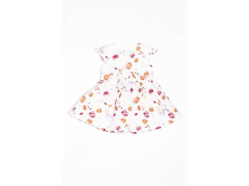 Šaty kojenecké s mašlí Baby holka