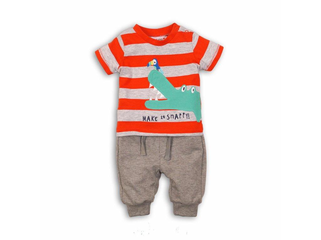 Chlapecký set, tepláky a tričko Baby červená