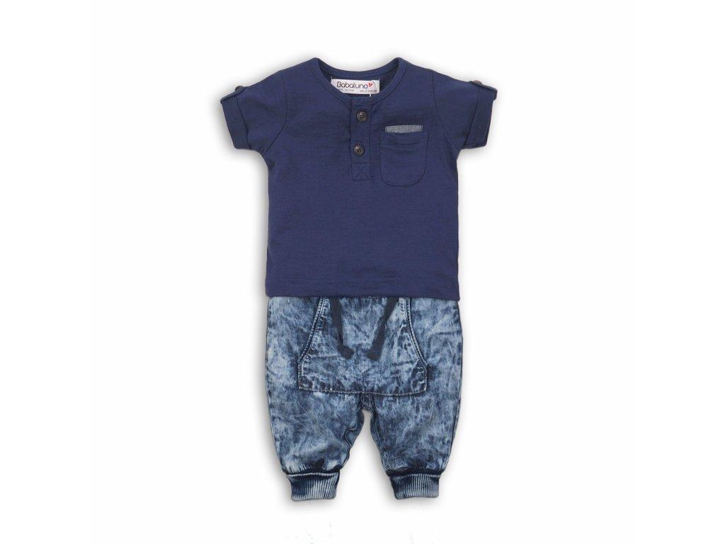 Chlapecký set, džíny a tričko Baby tmavě modrá