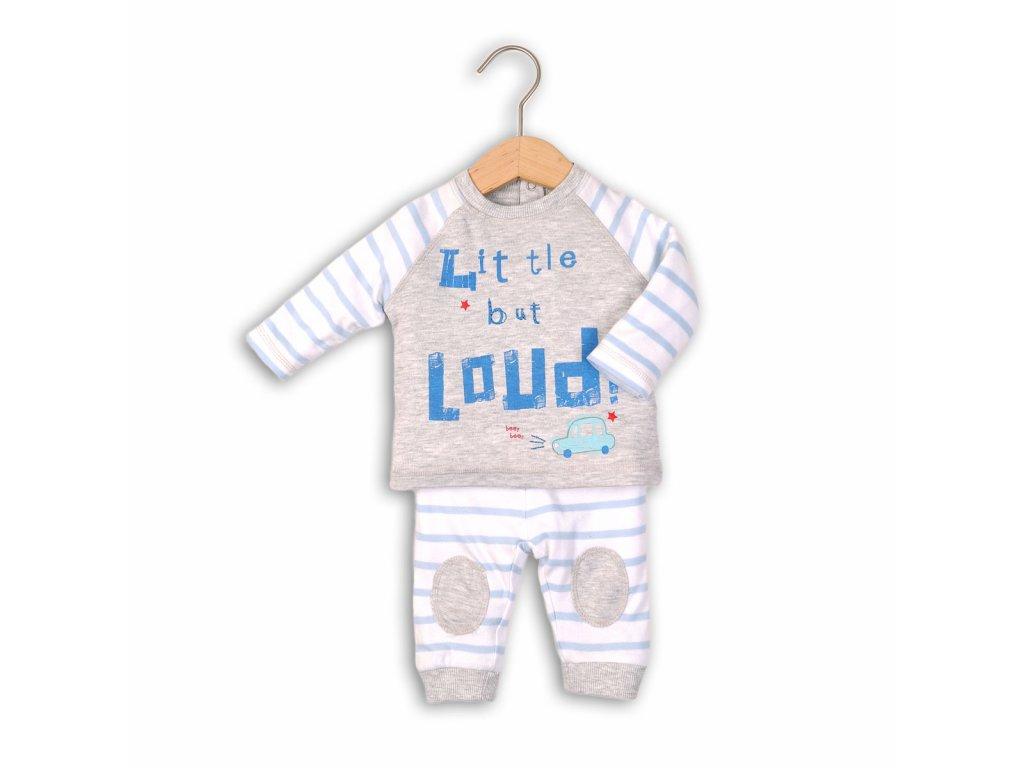 Kojenecký set, tričko a tepláky Baby modrá