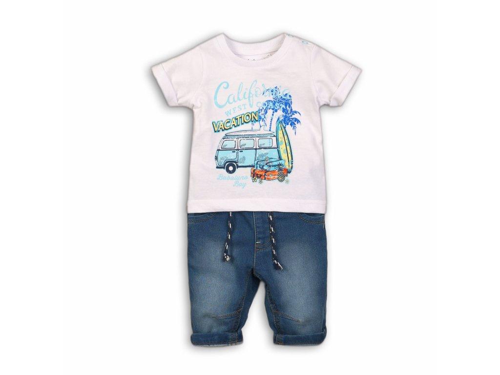 Chlapecký set, džíny a tričko Baby světle modrá