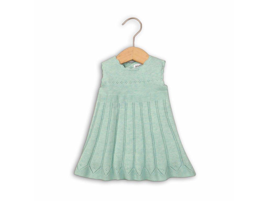 Šaty kojenecké úpletové Baby zelená