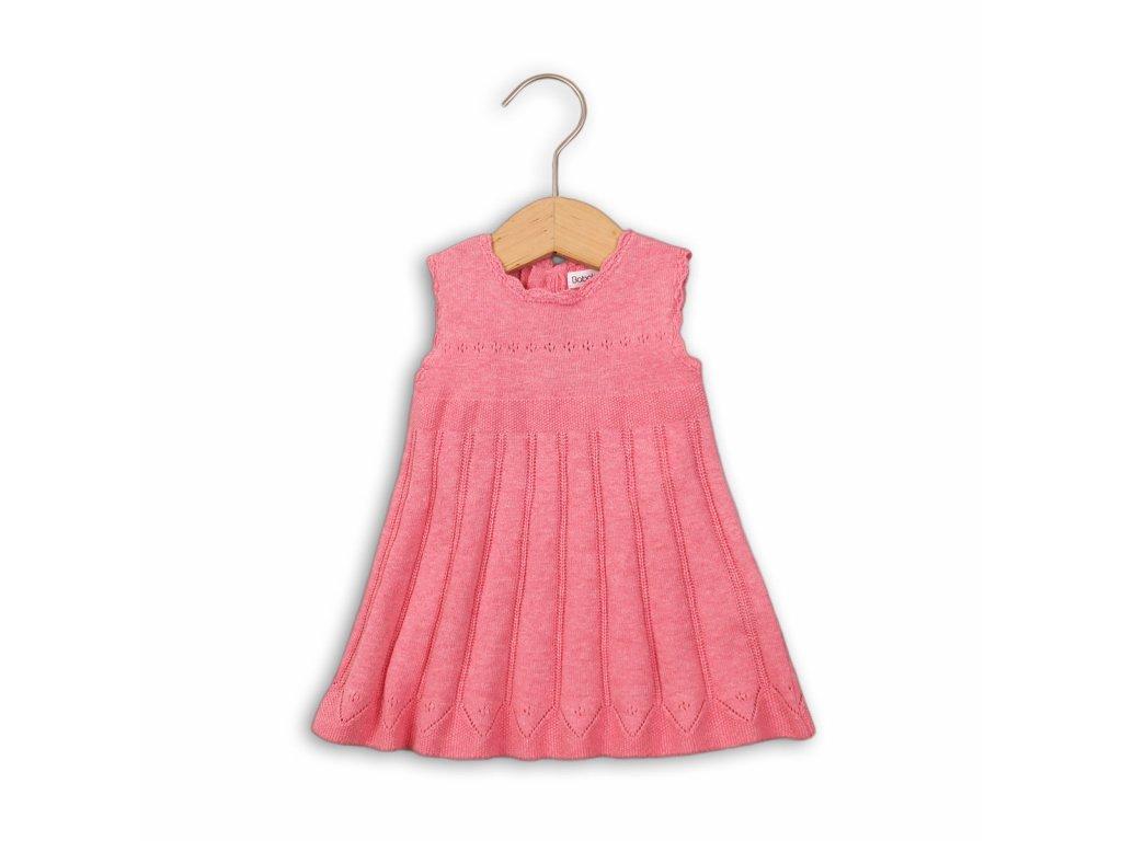 Šaty kojenecké úpletové Baby růžová