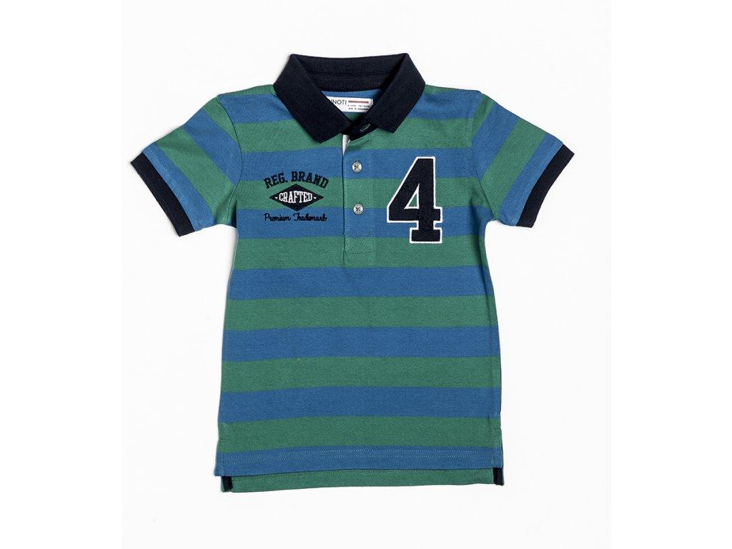Tričko chlapecké POLO s krátkým rukávem Baby zelená