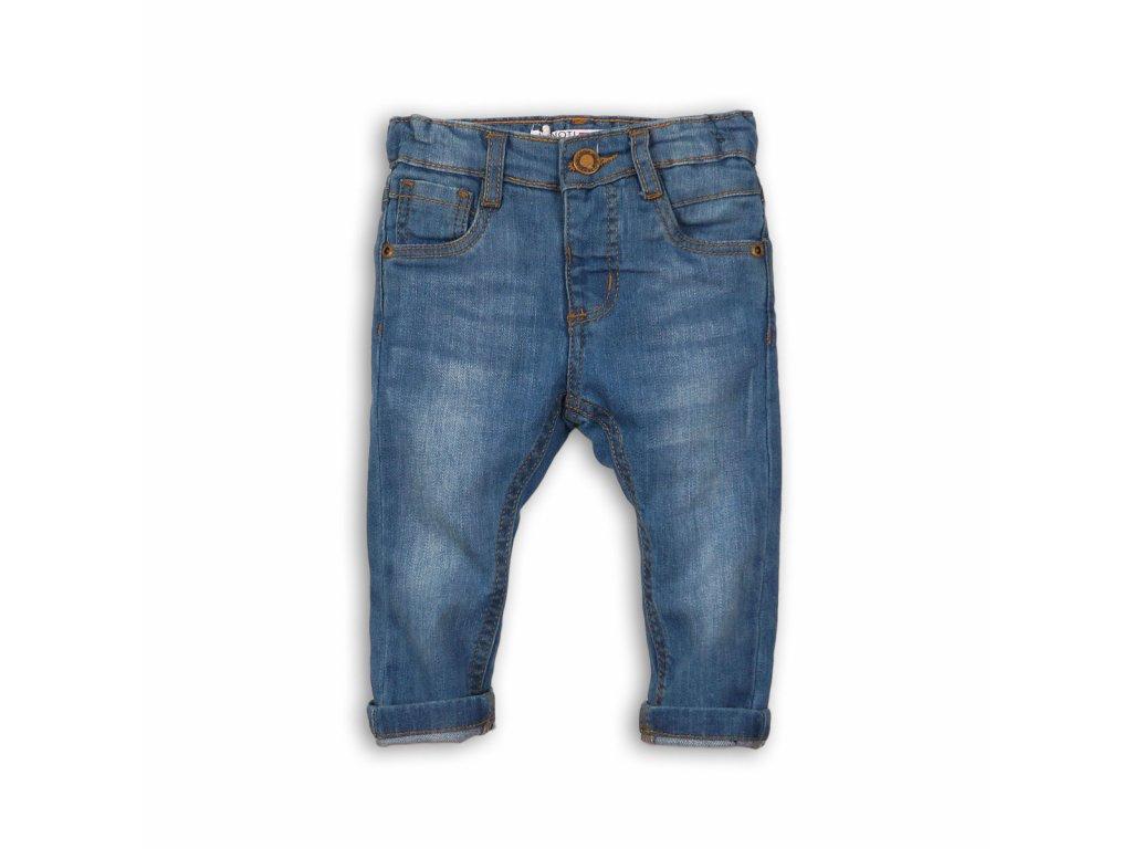 Kalhoty chlapecké džínové s elastenem Baby světle modrá
