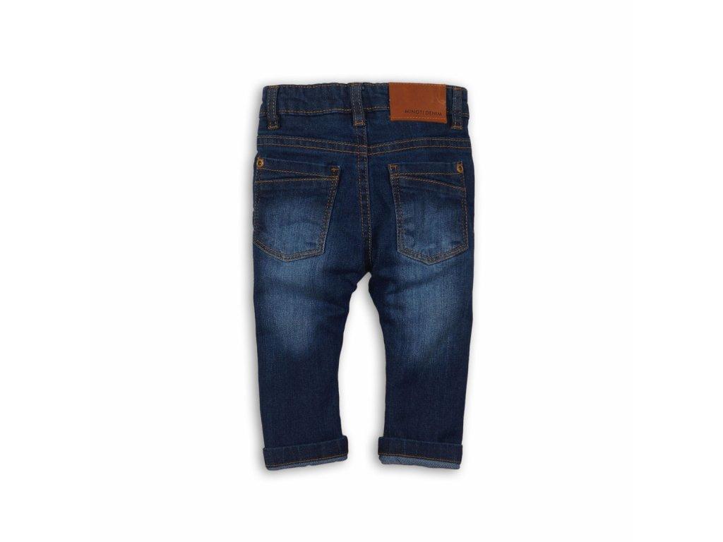 Kalhoty chlapecké džínové s elastenem Baby tmavě modrá