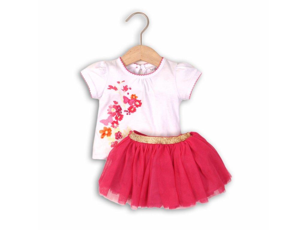 Dívčí set, sukně TUTU a tričko Baby růžová