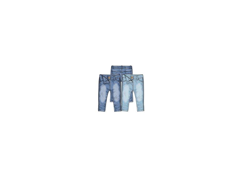 Kalhoty džínové dívčí s elastenem Kids tmavě modrá