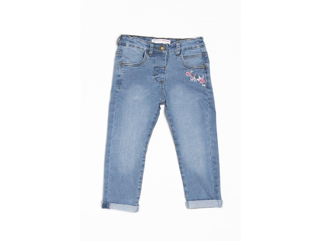 Kalhoty džínové dívčí s elastenem Baby modrá