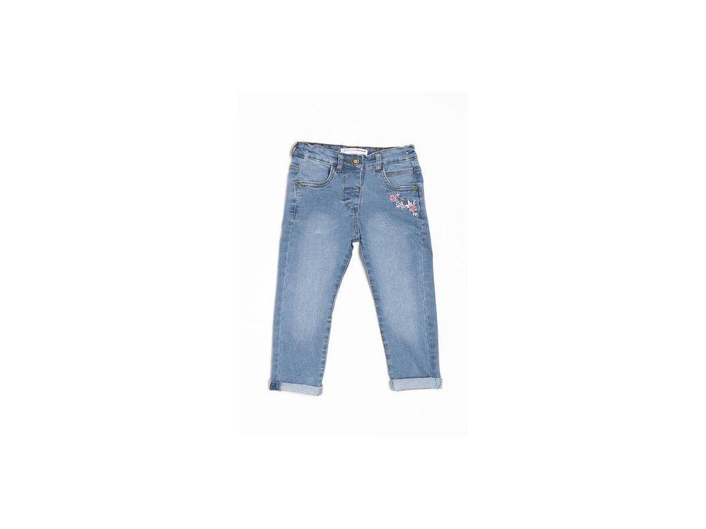 Kalhoty džínové dívčí s elastenem Baby světle modrá