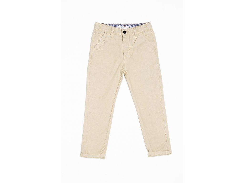 Kalhoty chlapecké bavlněné Kids hnědá