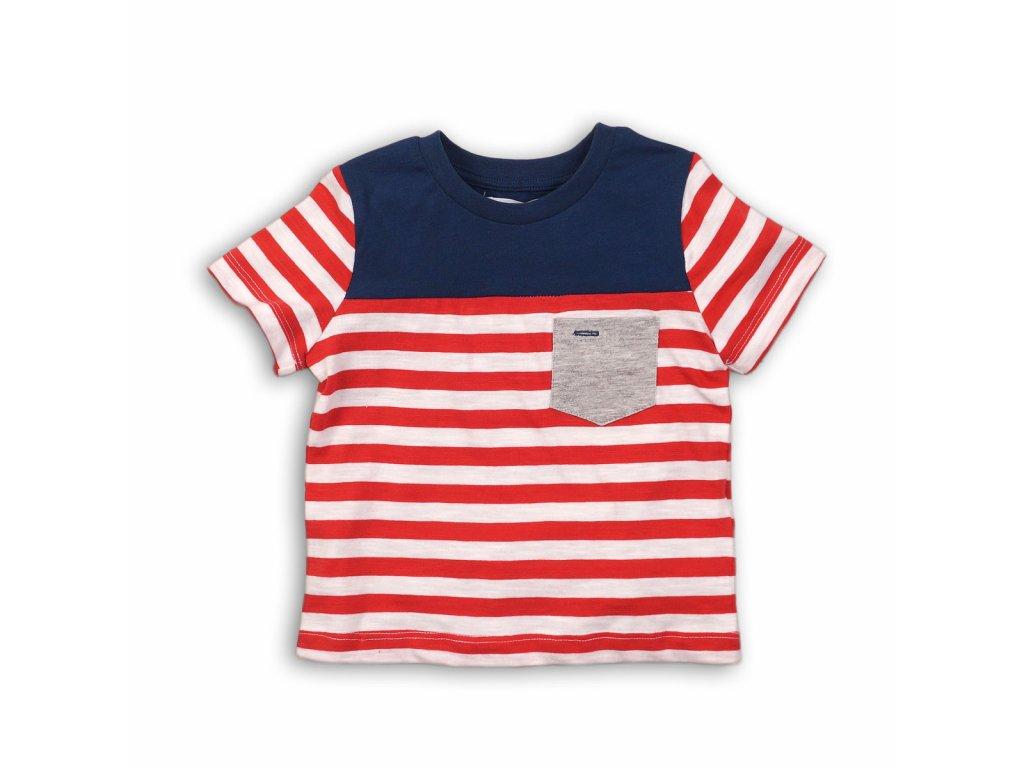 Tričko chlapecké s krátkým rukávem Baby červená