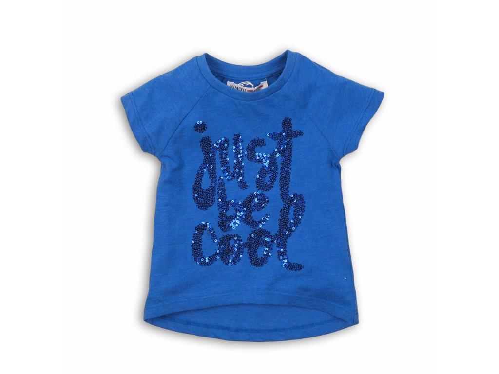 Tričko dívčí s krátkým rukávem Baby modrá